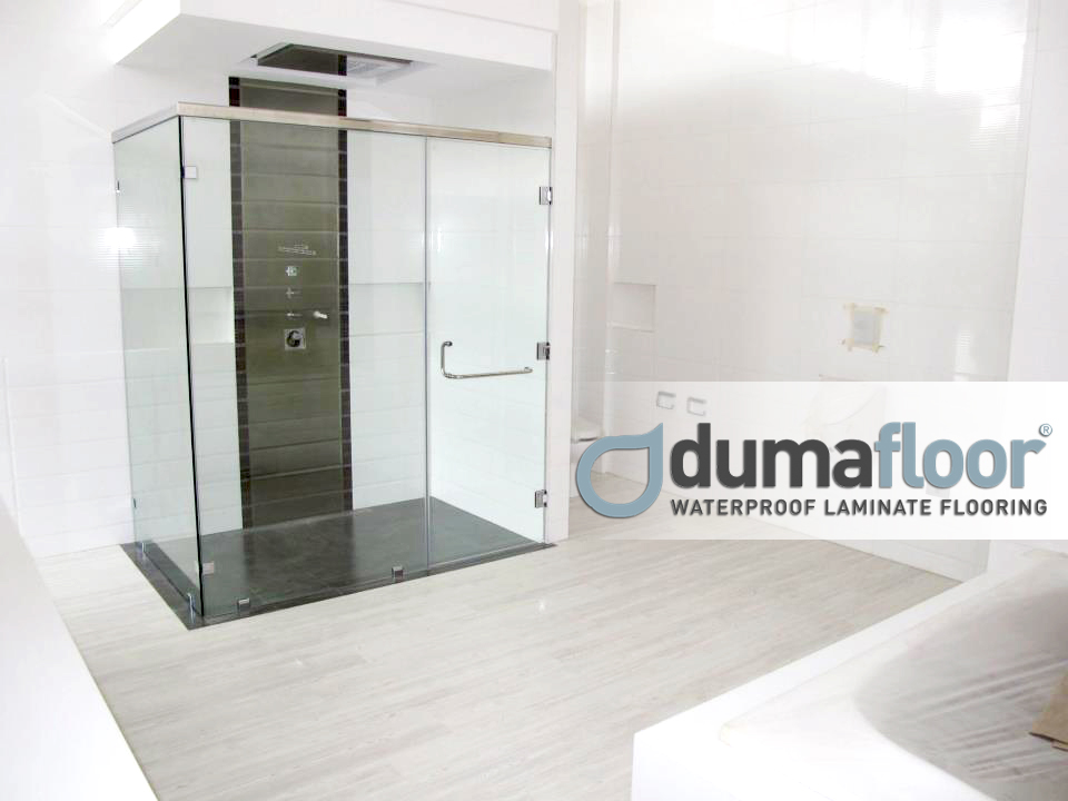Toilet And Bathroom Floor Dumafloor Waterproof Laminate Flooring