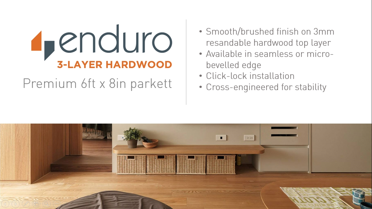 Enduro 3 Layer Hardwood