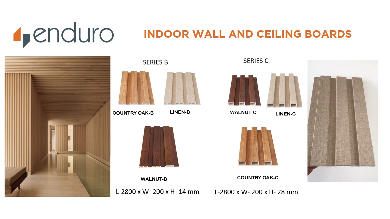 Enduro Indoor Wall and Ceiling Boards