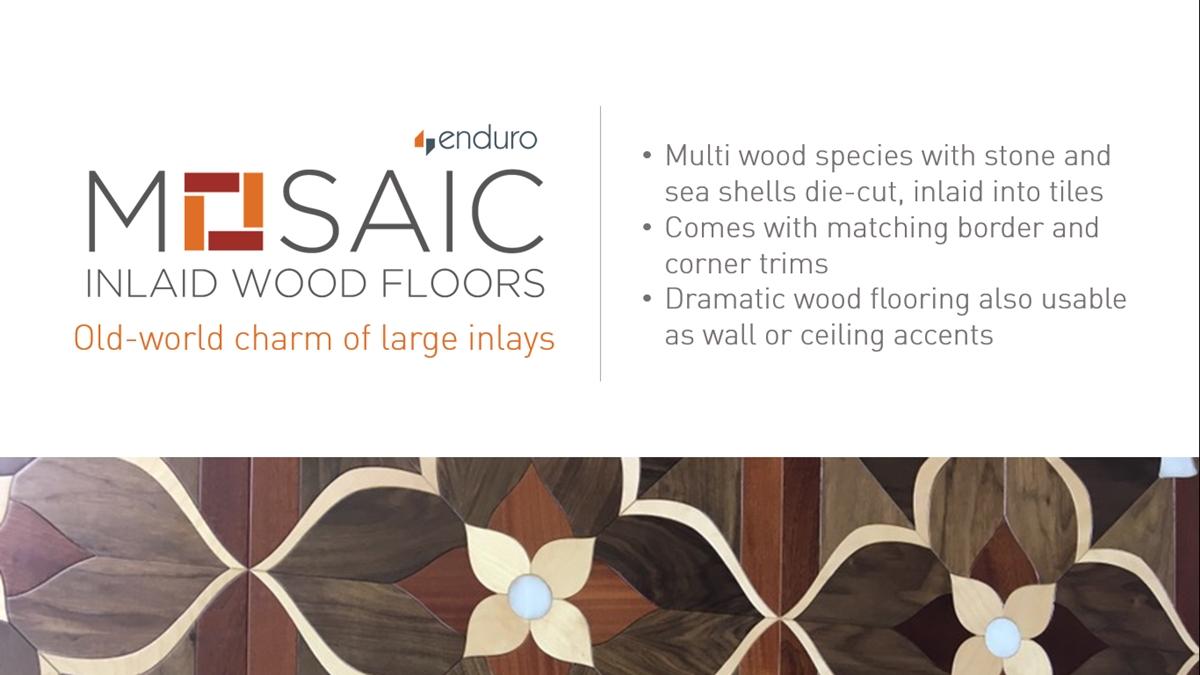 Enduro Mosaic Inlaid Wood Floors